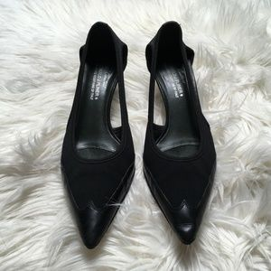 Donald J Pliner 7 M Black Couture Slip on Pointed